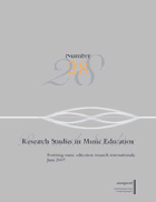 Research Studies in Music Education journal cover